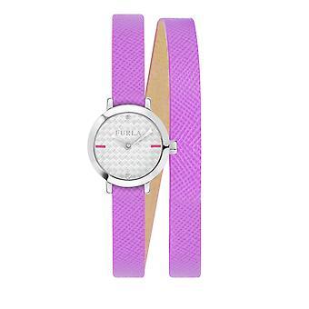 Furla Kvinder'S Vittoria Sølv Dial Kalveskind Læder Watch