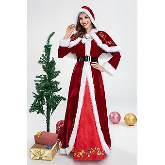 Christmas Costume Carnival Queen Prom Party Women Red Dress