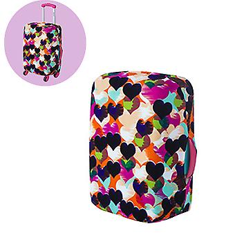 Elastic Luggage Suitcase Cover Pink Polka Dots