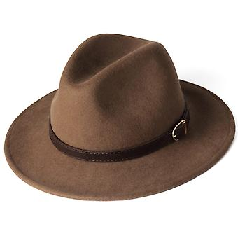 100% Australian Wool Felt Wide Brim Hat Vintage Jazz Fedora Couple Cap