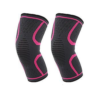 M tamaño rosa rojo longitud 27cm Nylon Latex Spandex profesional deportes rodilleras