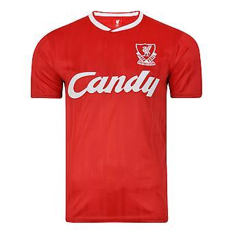 Score Draw Liverpool FC 1989 Camiseta de fútbol retro