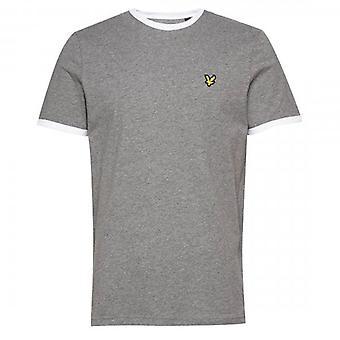 Lyle & Scott Ringer Crew Neck T-Shirt Mid Grey/White TS705V