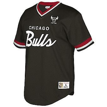 Mitchell & Ness Special Script Mesh V Neck T-Shirt Chicago Bulls MSPOMG18058 CBU