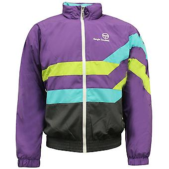 Sergio Tacchini 90-talet Zip Up Mens Track Top Jacket Lila 37867 766 EE126