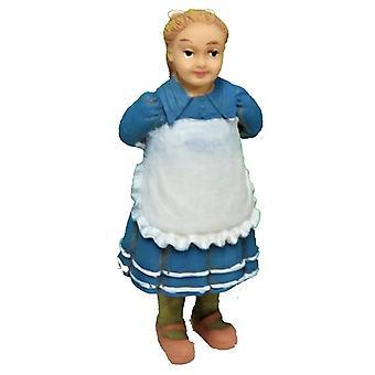 Dolls House Girl segurando boneca atrás de suas costas Pessoas Resina Figura