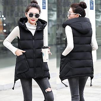 Podzimní a zimní dámské vesty, tlusté bavlněné kabáty plus velikost, dámské oblečení teplé