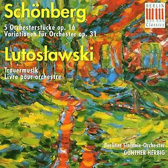 A. シェーンベルク - Sch Nberg ルトスワフスキ: 管弦楽曲集 [CD] アメリカ インポートします。