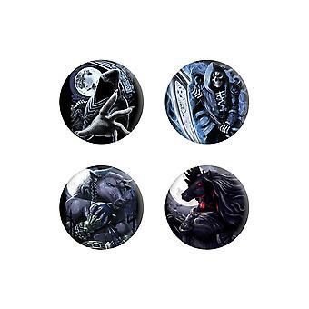Requiem Collective Enslaved Reaper Badge Set (Pack of 4)