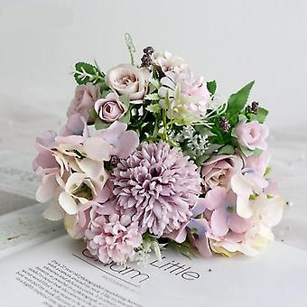 Hydrangea keinotekoinen - isot kukat ruusut hääkimppuun
