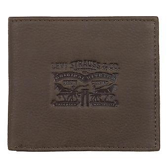Levis Vintage Two Horse Bi-Fold Wallet - Dark Brown