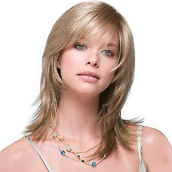 Brand Mall Wigs, Lace Wigs, Realistic Fluffy Short Hair, Straight Blond Wigs