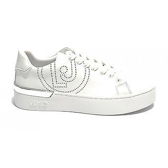 Shoes Woman Liu-jo Sneaker Mod. Silvia In Ecopelle Color White Ds21lj09