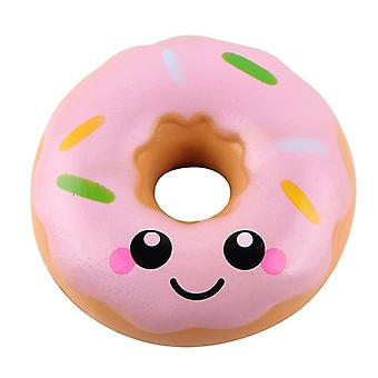 Simulation Donuts Phone Straps Cartoon Smile Face Squishy Slow Rising