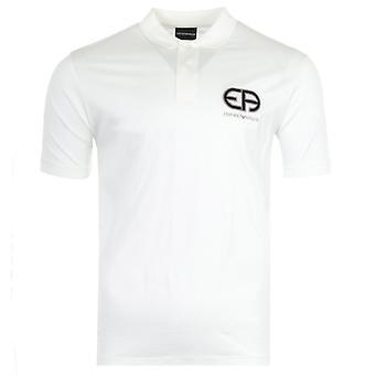Emporio Armani R-EAcreate Logo Tencel Blend Polo Shirt - White