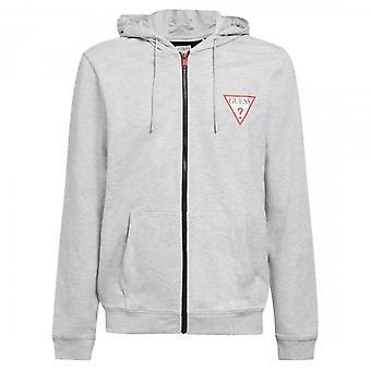 Guess Brooks Grey Marl Zip Up Sweat-shirt hoody M1RQ48K6ZS1