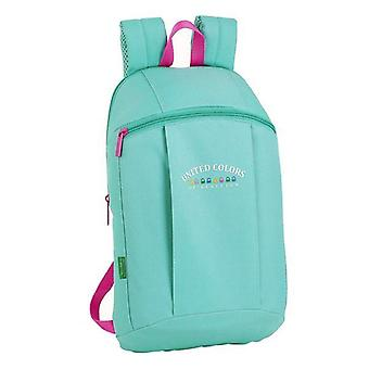 Casual backpack benetton blue