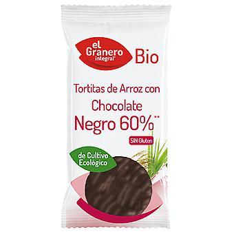 El Granero Integral Tortitas de arroz con chocolate negro bio 100 gr