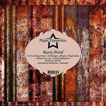 Paper Favourites Rusty Metal 6x6 Inch Paper Pack