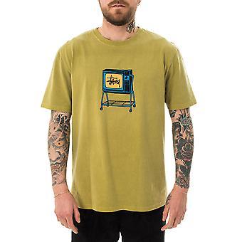 Men's T-shirt stussy rolling TV pig. dyed tee citron 1904672.ctro