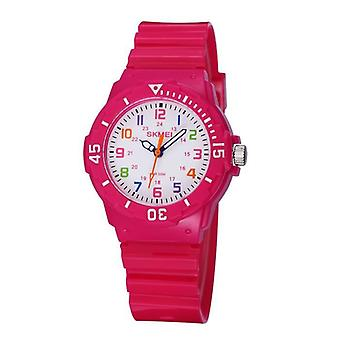 Girls Rose Red Color Watch