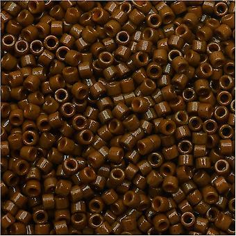 חרוזי זרעי מיוקי עדינה, 11/0 גודל, 7.2 גרם, קוניאק קוניאק אטום של DB2142
