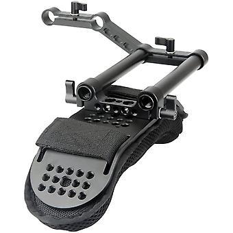 FengChun [Update Version] Kamera Schulterpolster mit 15mm Railblock und Aluminiumlegierung Ruten für
