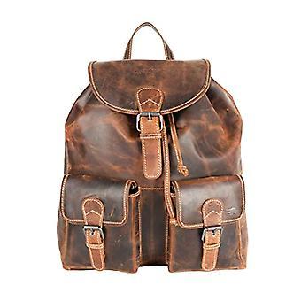 Arrigo Backpack unisex, 37 x 39 x 12 cm, Brown (brown (Cognac)), 37x39x12 cm (B x H x T)