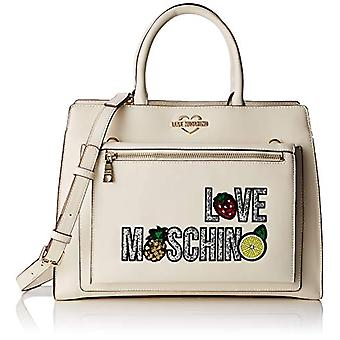 Love Moschino Pu, Women's Handbag, Ivory,, 12x27x36 cm (W x H x L)
