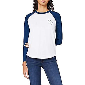 Lee Raglan Ringer Tee T-shirt, Blå (Tvättad blå LR), XS Kvinna