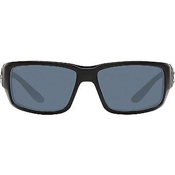 Costa Del Mar Mens Fantail 580P Polarized Rectangular Sunglasses - Blackout/Grey - 59 mm