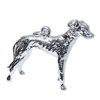 Greyhound Sterling Silber Anhänger .925 X 1 Greyhounds Hunde Anhänger - 15345