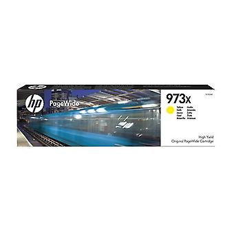 HP 973X Yellow Original High Capacity PageWide Ink Cartridge, High (XL) Yield, Encre pigmentaire, 86 ml, 7000 Pages