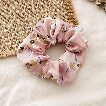 sateng silke solid farge scrunchies elastiske hårbånd