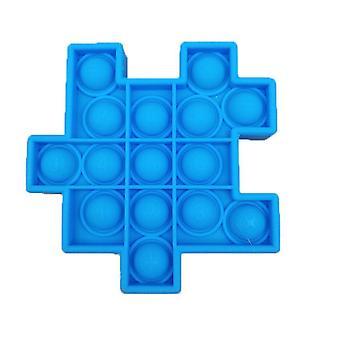 1Pcs sky bule 6pcs silicon ball for kids play a rubik's cube style toy bundle stress relief with fidget hand toys az21909
