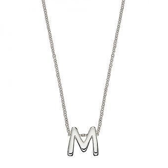Начало M Простое серебро Начальное ожерелье N4440