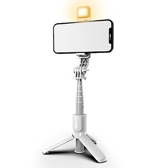 المحمولة الهاتف المحمول بلوتوث التحكم عن بعد عصا سيلفي مع ضوء التعبئة للبث المباشر