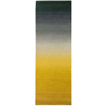 Ombre Wool Runner Rugs In Mustard Yellow