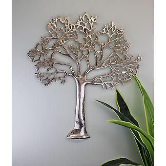 Grote metalen boom van het leven muur plaquette