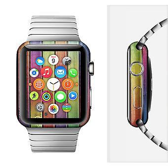 Die bunte lebendige HolzPlanken Ganzkörper-Haut-Kit für die Apple Watch