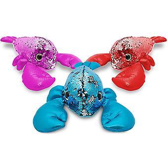 "Doodle 11"" Glitzies Lobster Magic Sequin Plush, Assorted Colours"