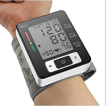 Wrist sphygmomanometer, smart blood pressure monitor voice digital oxygen measuring instrument