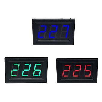 """Ac 70-500v 0,56"""" led digital voltmeter spänningsmätare volt instrumentverktyg 2 ledningar rödgrön blå display 110v 220v diy 0,56 tum"""