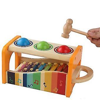 Xylophone 1-3 jaar oud educatief speelgoed kinderen leren muzikaal speelgoed (oranje)