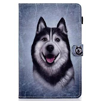 Case For Ipad Pro 12.9 2021 Cover With Auto Sleep/wake Pattern Magnetic - Husky Dog