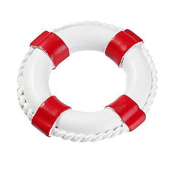 4cm punainen ja valkoinen lifebuoy miniatyyri merenrantamaailmoissa