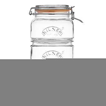 Stackable Storage Jar Set, 17.5 x 17.5 x 32 cm