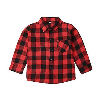 Toddler Baby Clothes Plaid Top Shirt Coat Jacket Outwear