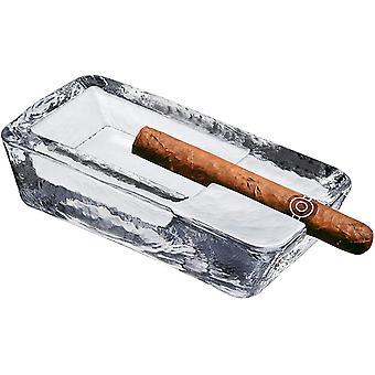 السيجار منفضة سجائر مصنوعة يدويا كريستال زجاج تصميم مقاومة للرياح والوزن الثقيل