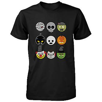 ハロウィン モンスター メンズ シャツ出没夜面白いシャツのユーモラスなグラフィック t シャツ